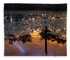 Minnamoolka Sunset Reflection 2 Fleece Blanket