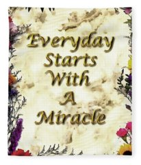 Miracles Fleece Blanket