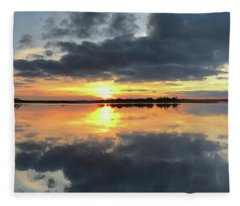 January Sunset Fleece Blanket
