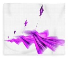 Missile Command Purple Fleece Blanket