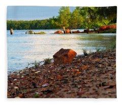 Mission River Shore Fleece Blanket