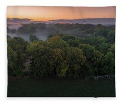 Mist In The Trees Fleece Blanket