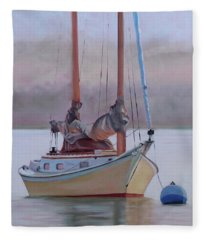 Misty Morning Catboat Fleece Blanket