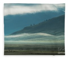 Misty Morning - Grand Teton National Park Fleece Blanket