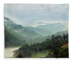Fleece Blanket featuring the photograph Misty Mountains by Whitney Goodey