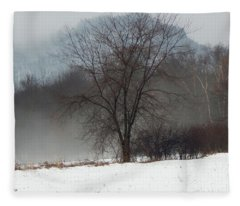 Misty Tree Fleece Blanket