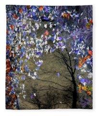 Mixed Maples In An Autumn Pool Fleece Blanket