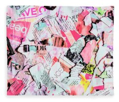 Mixed Media Messages Fleece Blanket
