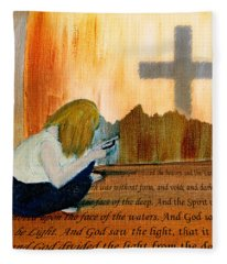Mobile Religion Fleece Blanket