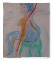 model named Helene two Fleece Blanket