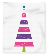 Modern Glam Christmas Tree 1- Art By Linda Woods Fleece Blanket