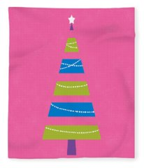 Modern Glam Christmas Tree 2- Art By Linda Woods Fleece Blanket