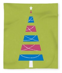 Modern Glam Christmas Tree 3- Art By Linda Woods Fleece Blanket