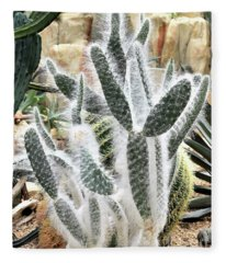 Mojave Prickly Pear Fleece Blanket
