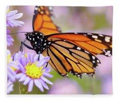 Monarch Close-up Fleece Blanket