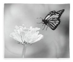 Monarch In Infrared 6 Fleece Blanket