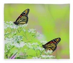 Monarchs In A Meadow Fleece Blanket