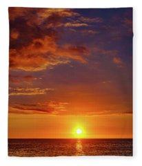 Monday Sunset Fleece Blanket
