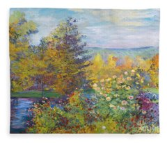 Monet In The Park Fleece Blanket