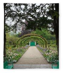 Monets Garden 1 Fleece Blanket