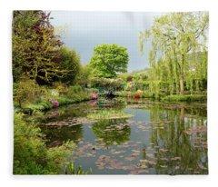 Monets Garden 2 Fleece Blanket