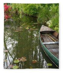 Monets Garden 3 Fleece Blanket