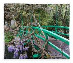 Monets Garden 4 Fleece Blanket