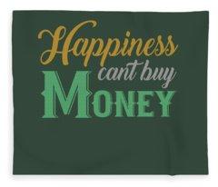 Money Happiness Fleece Blanket