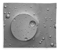 Monochrome Abstract Fleece Blanket