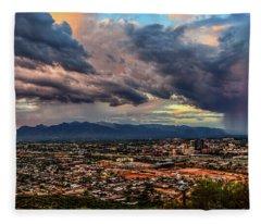 Monsoon Hits Tucson Fleece Blanket