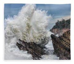 Monster Wave Fleece Blanket