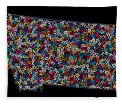 Montana Maps - 2 Fleece Blanket