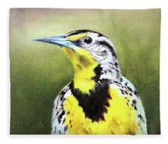Montana Meadowlark Fleece Blanket