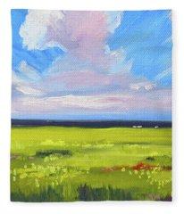 Montana Prairie Fleece Blanket