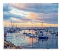 Monterey Pastel Sunset Fleece Blanket