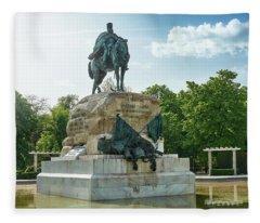 Monument To General Arsenio Martinez Campos In Madrid, Spain Fleece Blanket