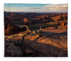 Monument Valley From Hunts Mesa Fleece Blanket