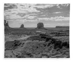 Monument Valley View Fleece Blanket