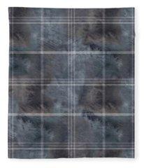 Moody Blue Plaid Fleece Blanket