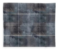 Moody Blue Plaid Fleece Blanket