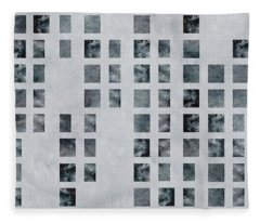 Moody Blues Data Pattern Fleece Blanket