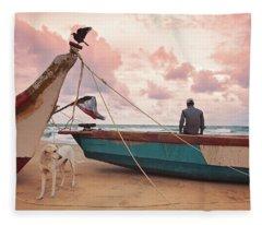 Moody Skies Fleece Blanket