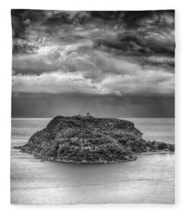 Fleece Blanket featuring the photograph Moody Sky by Chris Cousins