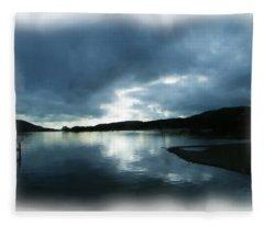 Moody Sky Painting Fleece Blanket