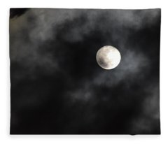 Moon In The Still Of The Night Fleece Blanket