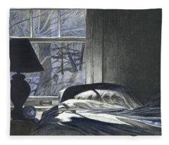 Moon Light On Our Bed Fleece Blanket