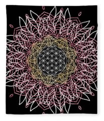 Moon Mandala Fleece Blanket