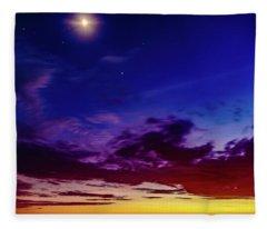 Moon Sky Fleece Blanket