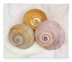 Moon Snail Trio Fleece Blanket