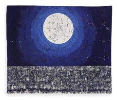 Moonbathing Original Painting Fleece Blanket